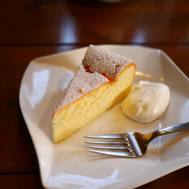 カフェマルゴのチーズケーキ
