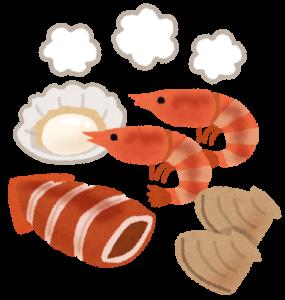 タウリンを含む食材イラスト