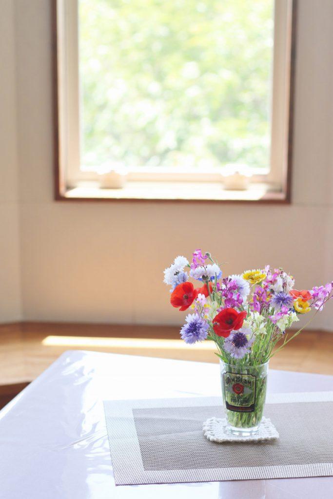 花瓶に生けた花