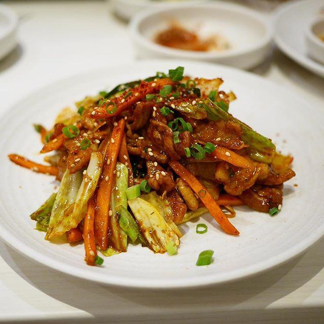 HANKKI豚バラと野菜の辛味噌炒め